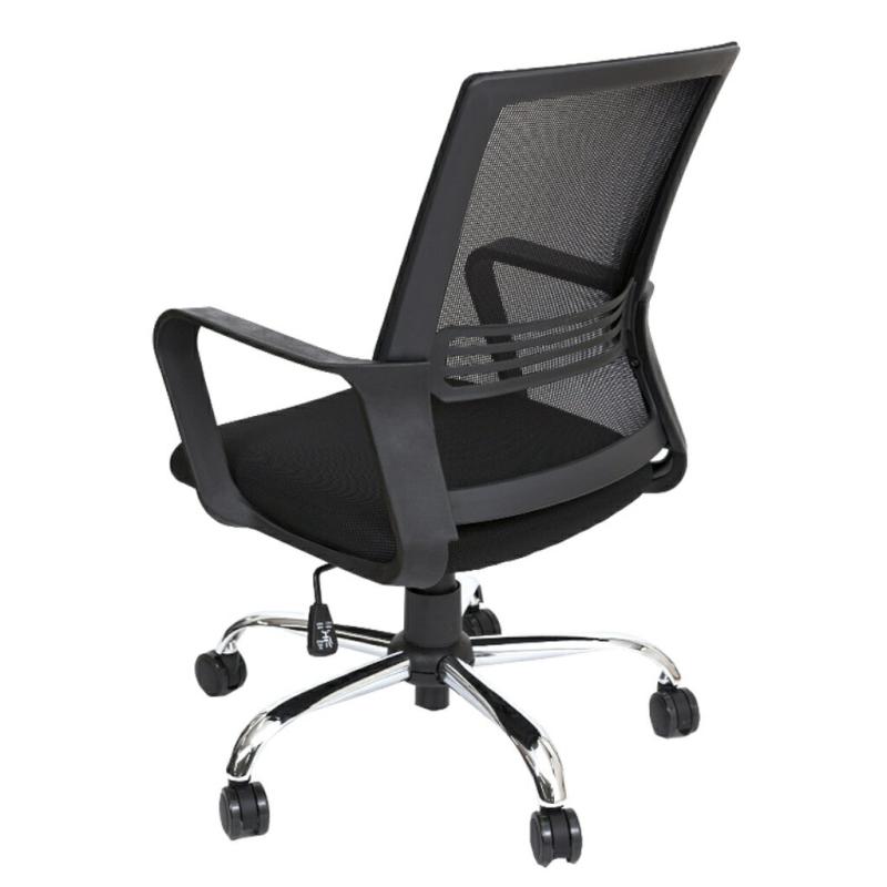 オフィスチェア デスクチェア 事務椅子 肘付き スクエアチェア   I-OFC-18【166671】