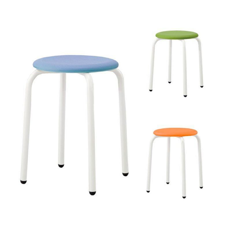 丸椅子 丸スツール H420 座樹脂 | I-RS-42P