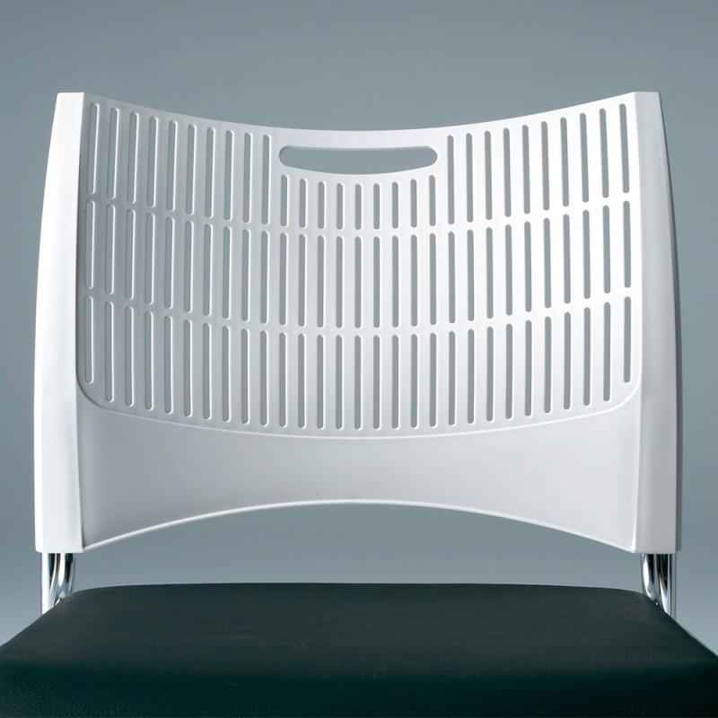 ミーティングチェア ネスティングチェア 会議用椅子 キャスター脚 スチール ブラック 塗装脚 キャスター付き シェルブラック 布 | I-DMC23N-B-PYN