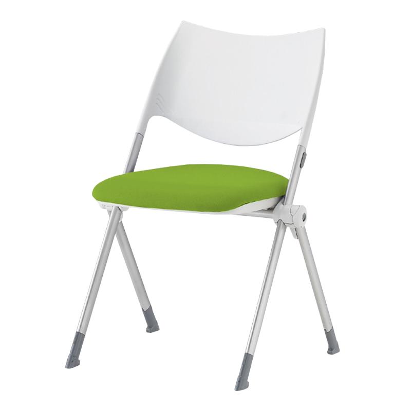 ミーティングチェア ネスティングチェア 会議用椅子 スチール シルバー 塗装脚 布 | I-WSX-02-F