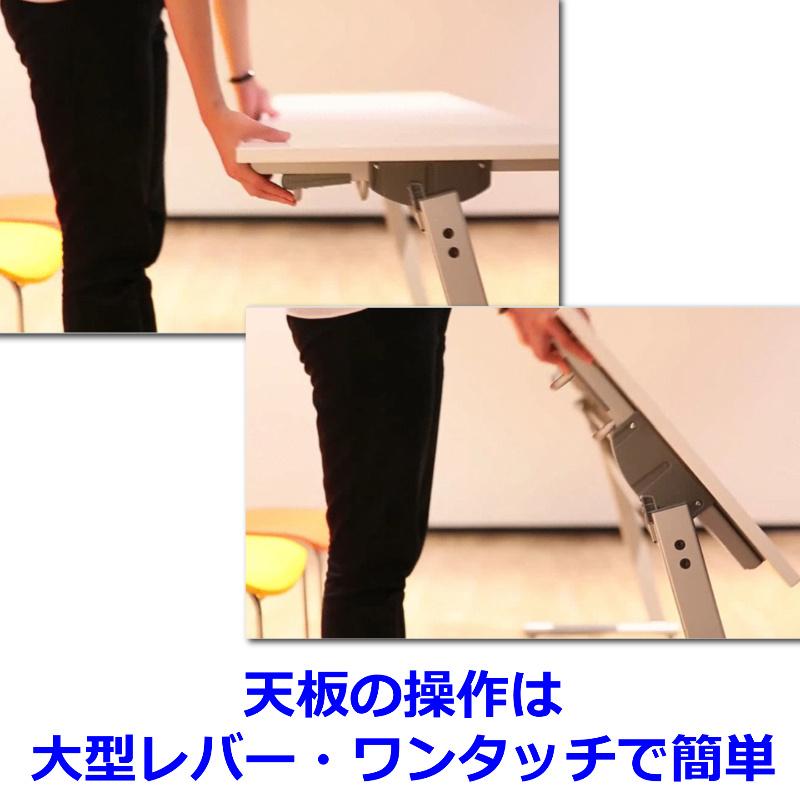 会議用テーブル キャスター付き W1500 D450 H700 幕板なし 平行スタック | I-FTR-H1545