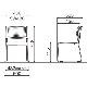 【ミーティングセット】 リーズナブル ミーティングテーブル 幅180cm×奥行90cm + ミーティングチェア 6脚 | I-SOT-1890PK-天WND-脚G+LTS-110Z×6