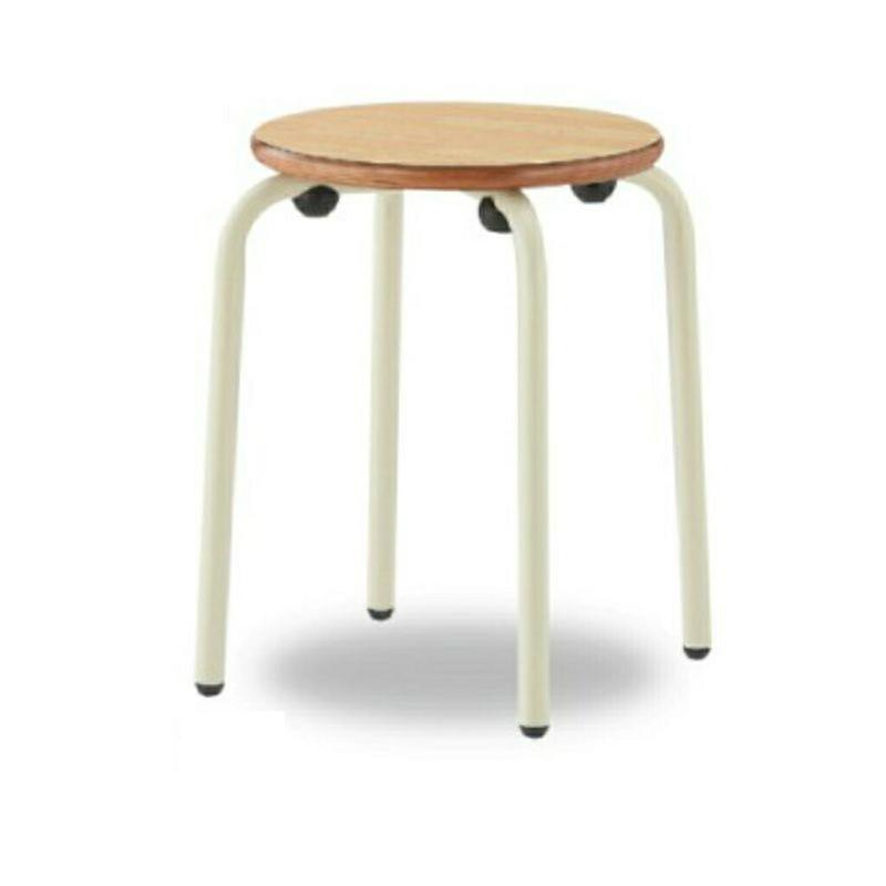 丸椅子 丸スツール H460 座合板 | I-RS-46W