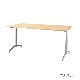 木製テーブル W1200 D650 H700 メッキ脚 フーク | I-FKTT1265-M