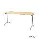 木製テーブル W1200 D750 H700 メッキ脚 フーク | I-FKTT1275-M