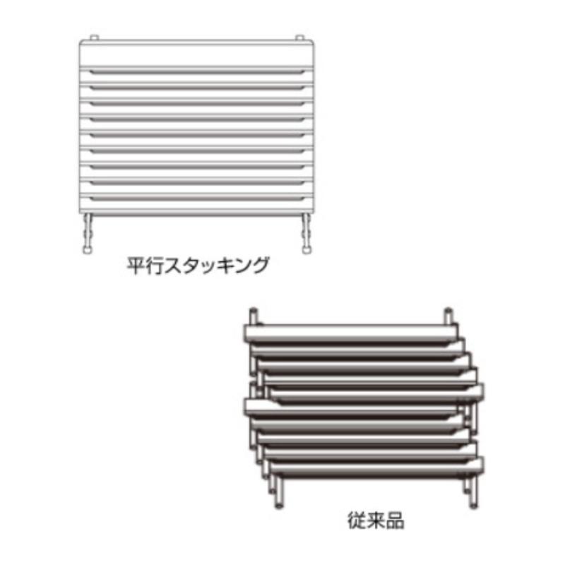 会議用テーブル キャスター付き W1800 D450 H700 幕板付き 平行スタック | I-FTR-H1845M