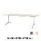 木製テーブル W1800 D750 H700 メッキ脚 フーク   I-FKTT1875-M