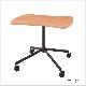 木製テーブル キャスター脚 異形 W900   I-ESC-CK-B