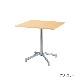 木製テーブル W600 D750 H700 メッキ脚 フーク | I-FKTX6075-M