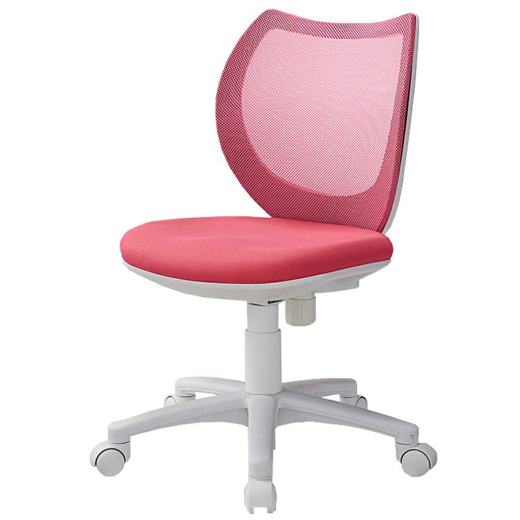 オフィスチェア デスクチェア 事務椅子 肘なし 背メッシュ フローラル   I-FLO-43M0-F