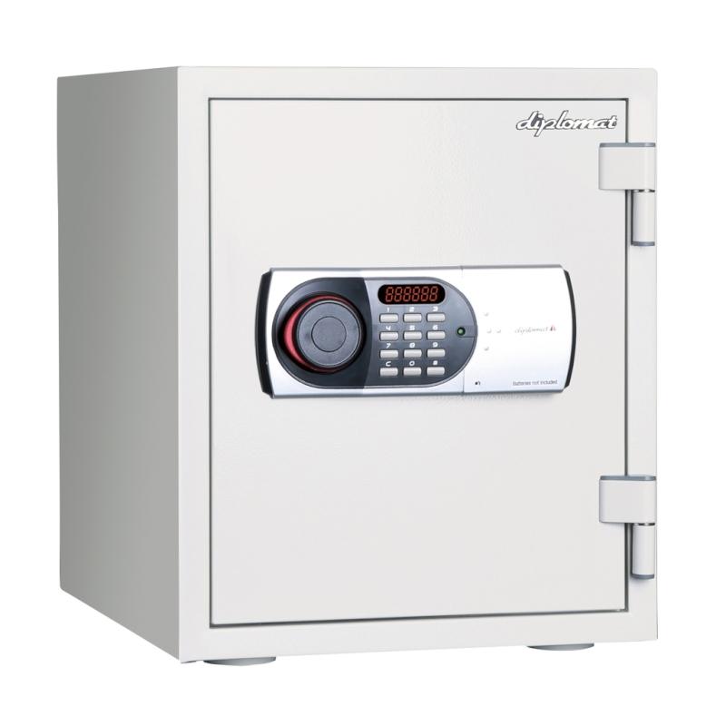 ディプロマット デジタルテンキー式 耐火耐水金庫 60分耐火 容量25L ホワイト 警報音付 | I-125EN88WR