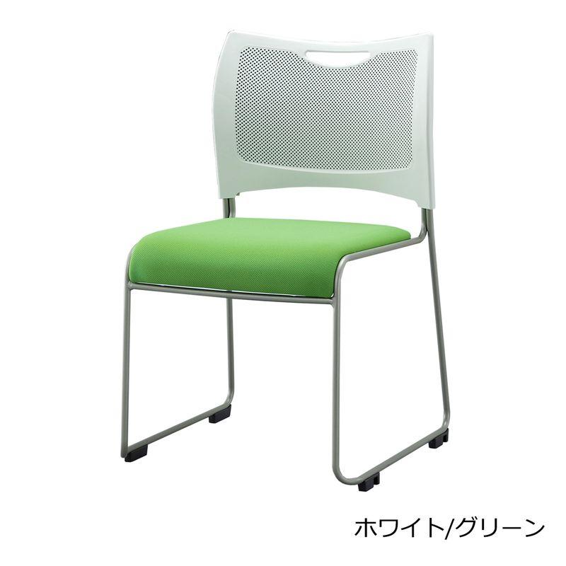 【ミーティングセット】 コンフォータブル ミーティングテーブル 幅2400cm×奥行120cm + ミーティングチェア 8脚 | I-SOT-2412-PKH-N+MCX-02DM-F×8