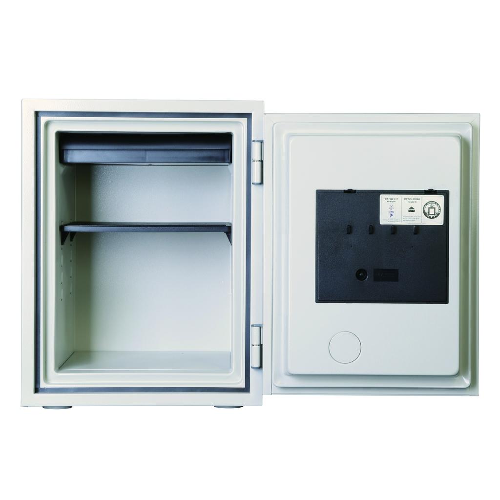 ディプロマット デジタルテンキー式 耐火耐水金庫 60分耐火 容量36L ホワイト 警報音付   I-530EN88WR 【DMCP】