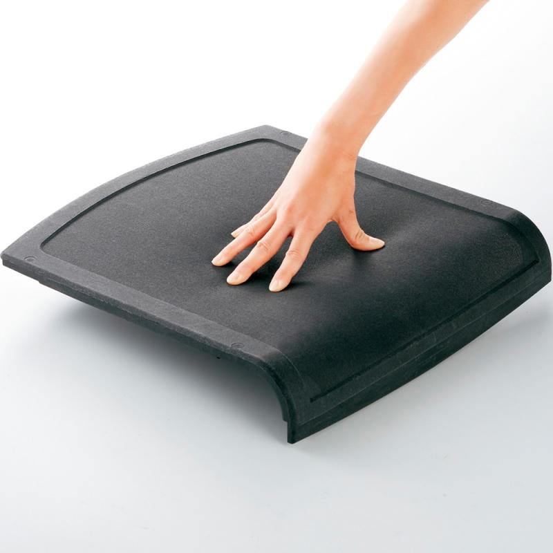ミーティングチェア スタッキングチェア 会議用椅子 4本脚 スチール シルバー 塗装脚 キャスター付き シェルブラック 布 | I-DMC23C-PYN