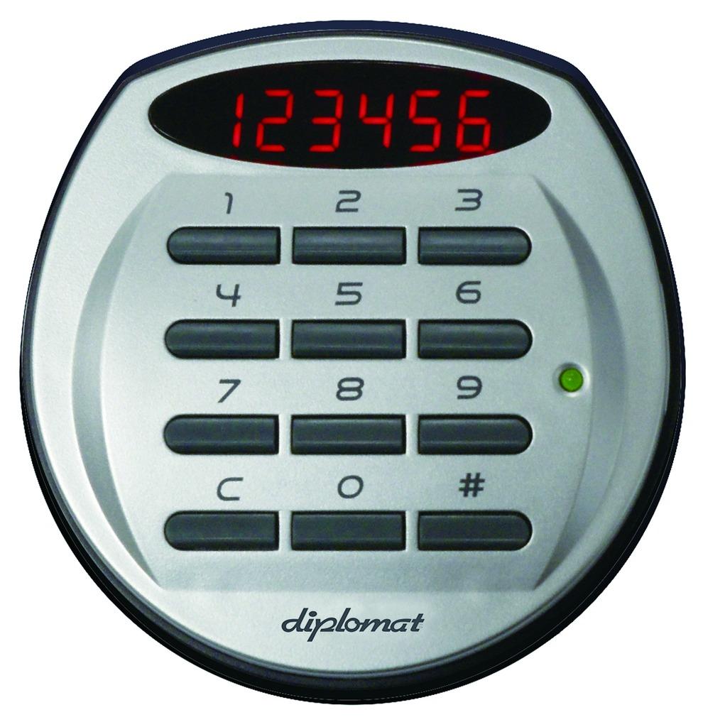 ディプロマット デジタルテンキー式 デザイン金庫 60分耐火耐水 容量19L レッド 警報音付   I-A119R3WRRED 【DMCP】