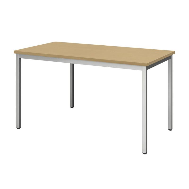【在宅セット】 テーブル 幅120cm×奥行60cm + チェア 肘付き | I-SOT-1260PK-天WND-脚G+OFC-02