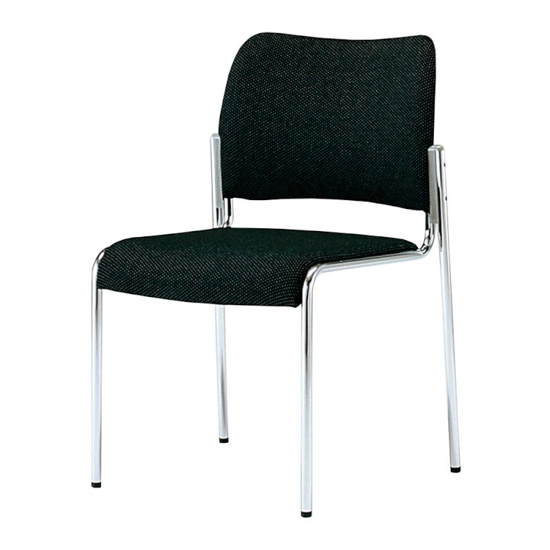 ミーティングチェア 応接用椅子 4本脚 スチール メッキ脚 レザー | I-DB510M-LYL