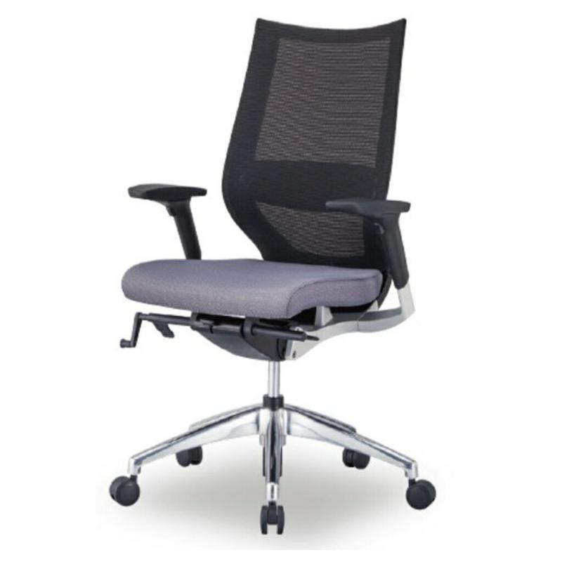 オフィスチェア デスクチェア 事務椅子 可動肘 背メッシュ ラグリス   I-LUX-M-HS2A
