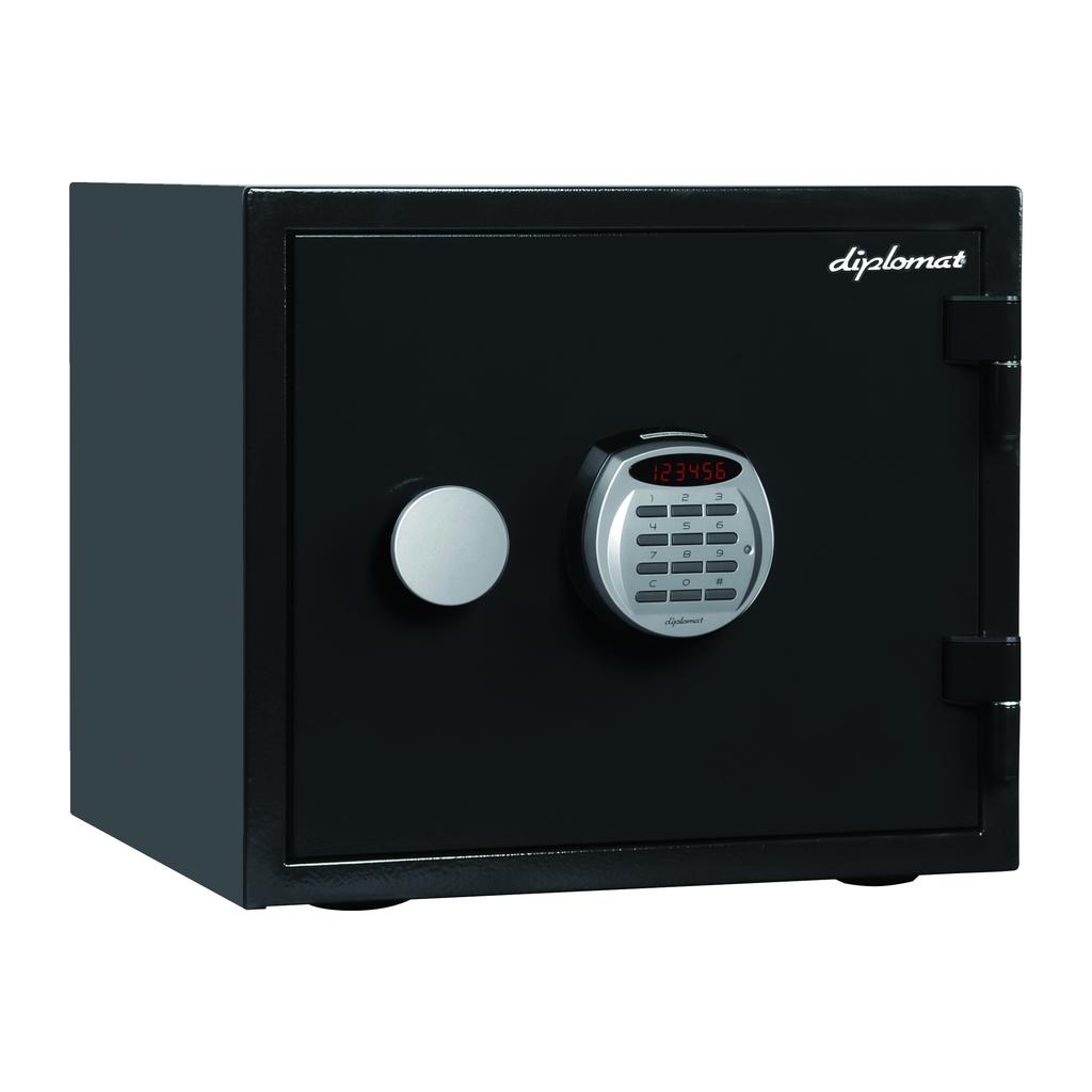 ディプロマット デジタルテンキー式 デザイン金庫 60分耐火耐水 容量19L ブラック 警報音付 | I-A119R3WRBLACK