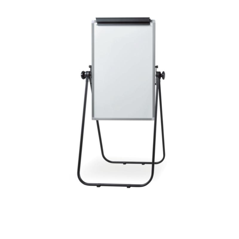 ホワイトボード 案内板 折りたたみ式 両面 無地 W1800 H900 マグネット対応 簡易ボード | I-KCWK-0609