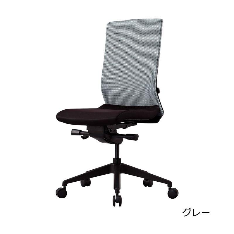 オフィスチェア デスクチェア 事務椅子 肘なし クレア   I-CREA-H0