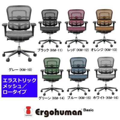 オフィスチェア エルゴヒューマン ベーシック ロータイプ エラストリックメッシュ | I-SCEHO-LAM-KM