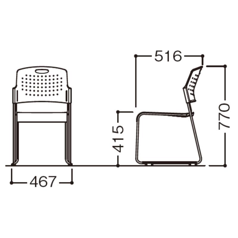 ミーティングチェア スタッキングチェア 会議用椅子   I-HGS-41PP