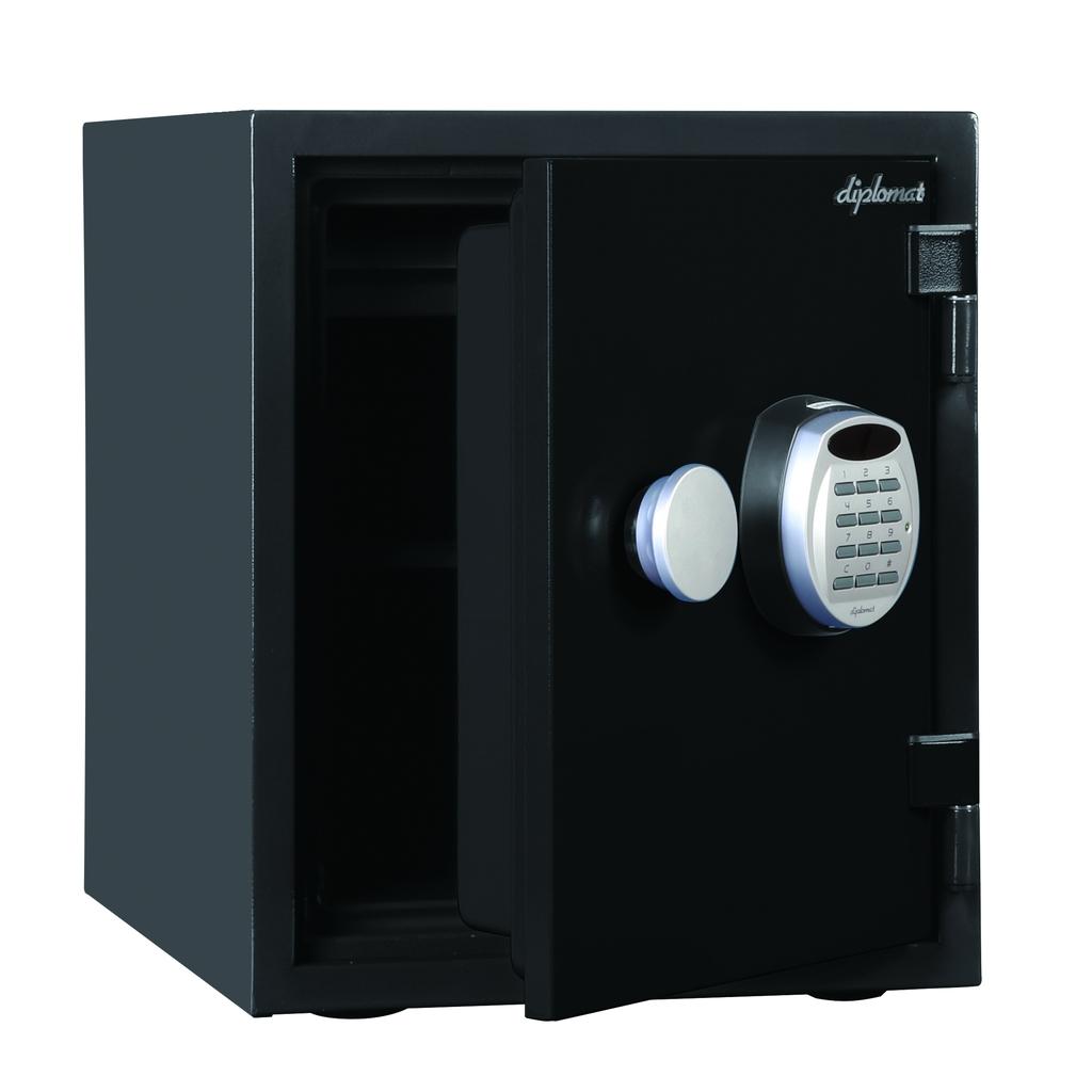 ディプロマット デジタルテンキー式 デザイン金庫 60分耐火耐水 容量25L ブラック 警報音付 | I-A125R3WRBLACK 【DMCP】