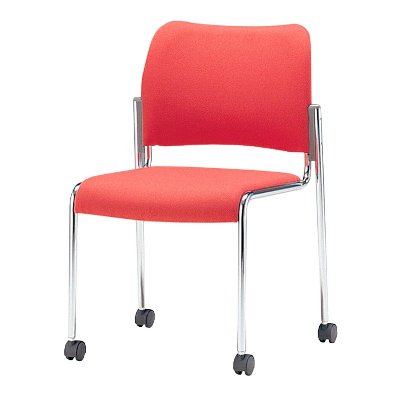 ミーティングチェア 応接用椅子 4本脚 スチール メッキ脚 レザー | I-DB50MC-LYL