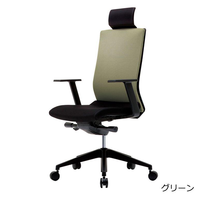 オフィスチェア デスクチェア 事務椅子 可動肘 ヘッドレスト付き クレア | I-CREA-HS2-H