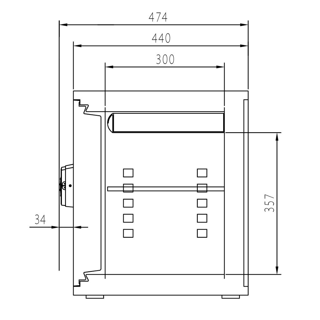 ディプロマット デジタルテンキー式 デザイン金庫 60分耐火耐水 容量36L ブラック 警報音付 | I-A530R3WRBLACK 【DMCP】