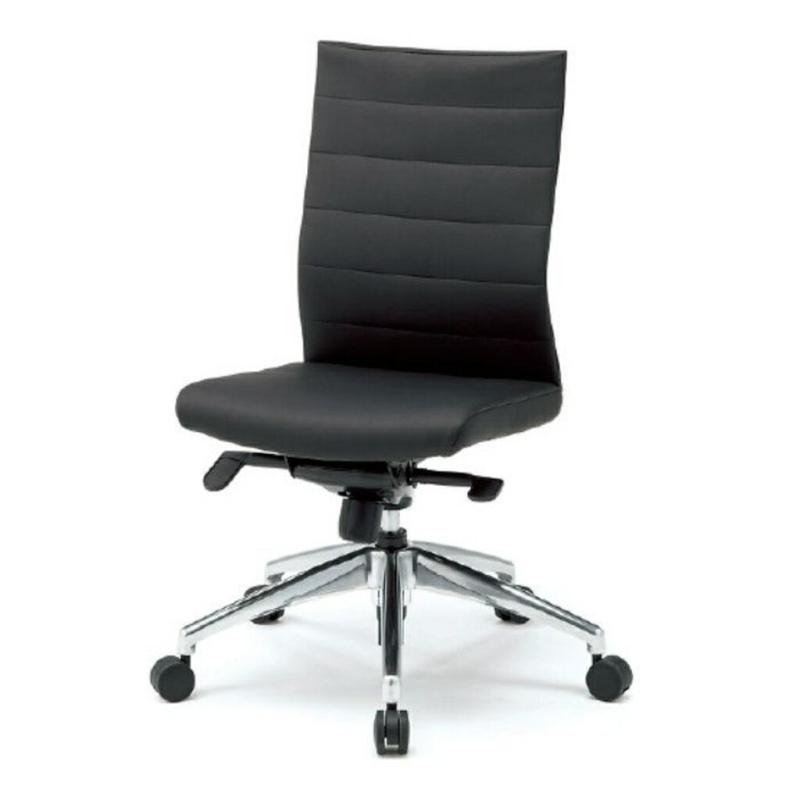 オフィスチェア デスクチェア 事務椅子 肘なし スキン | I-JP20LL