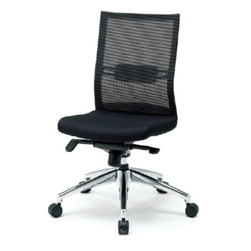 オフィスチェア デスクチェア 事務椅子 肘なし 背メッシュ スキン | I-JP20ML