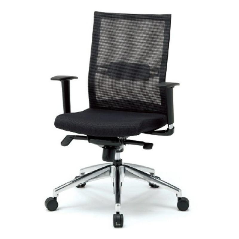 オフィスチェア デスクチェア 事務椅子 可動肘 背メッシュ スキン | I-JP21ML