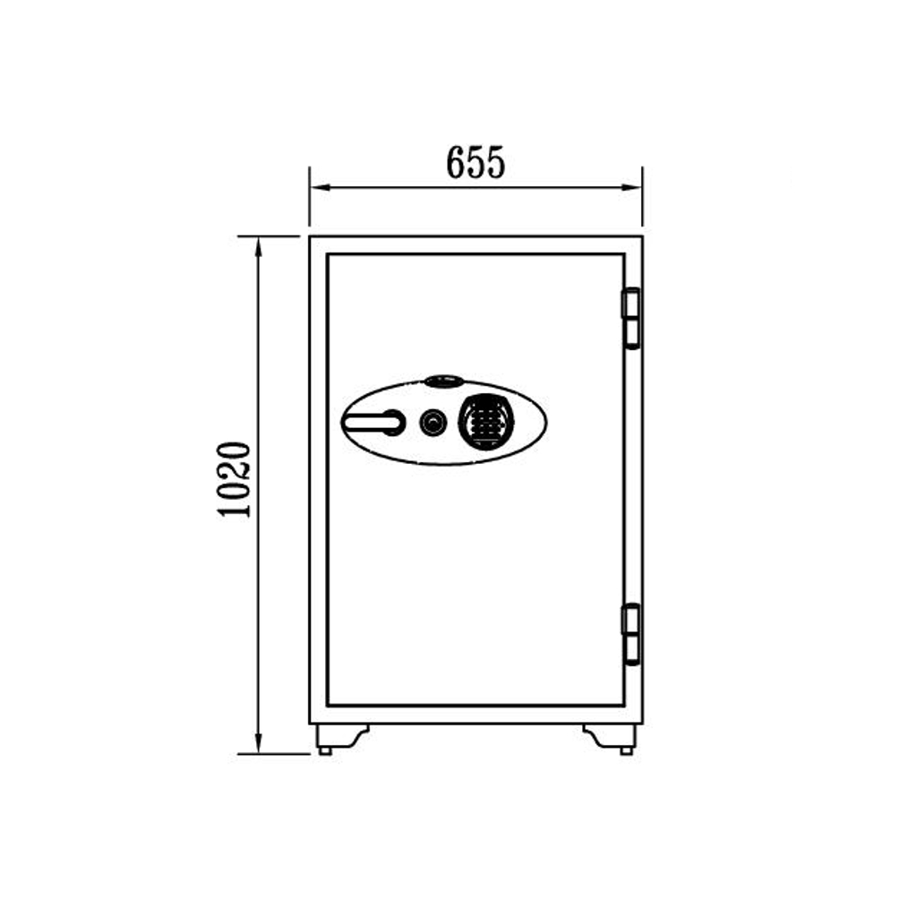 ディプロマット 鍵+デジタルテンキー式金庫 120分耐火 容量129L ホワイト 警報音付   I-100EKR3