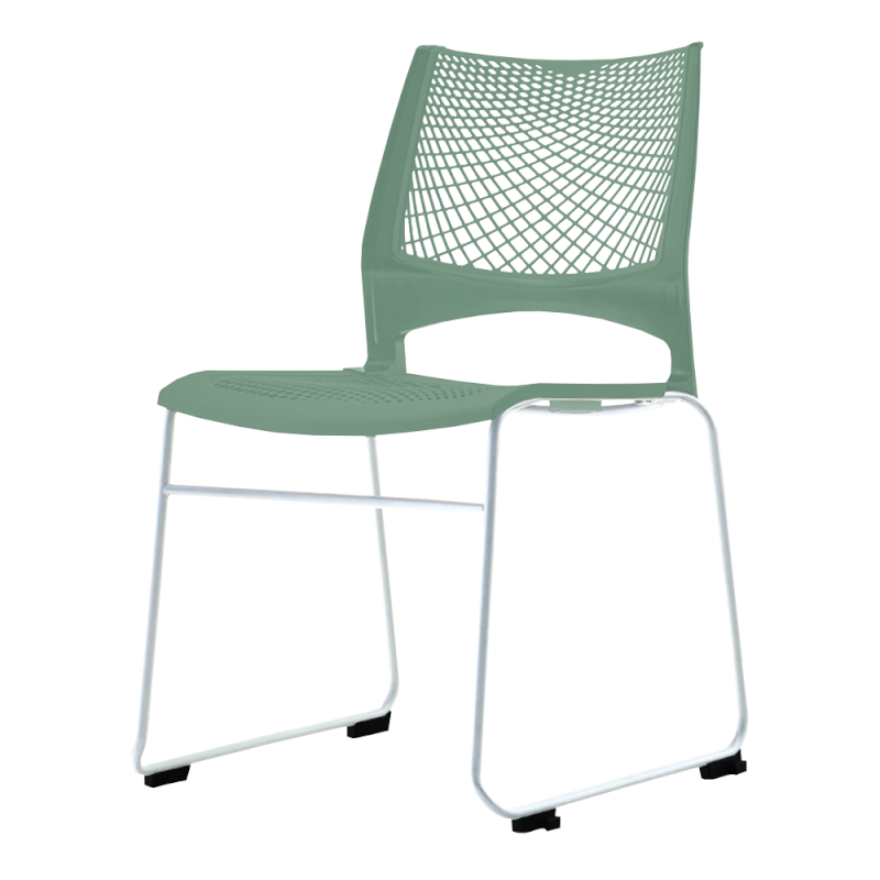 ミーティングチェア スタッキングチェア 会議用椅子 ループ脚 スチール メッキ脚 メッシュ | I-VSTR-M