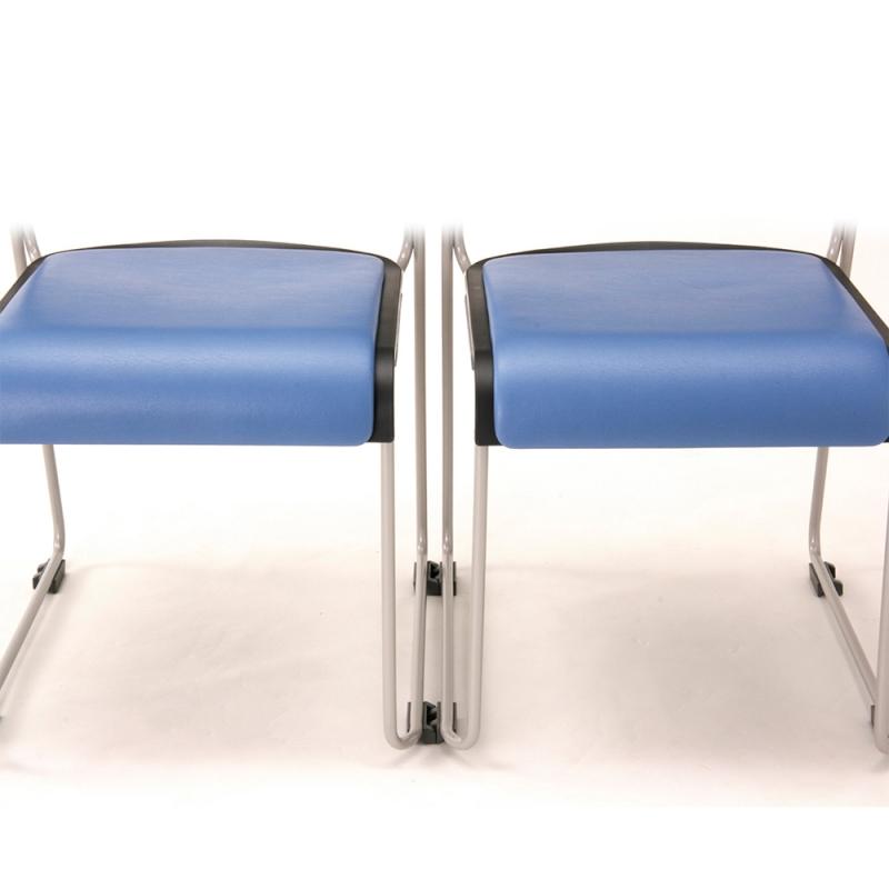 ミーティングチェア スタッキングチェア 会議用椅子 ループ脚 スチール シルバー 塗装脚 荷物受棚付 樹脂   I-HGS-37PP-TN