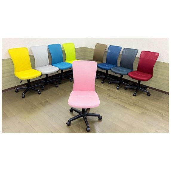 【新商品】オフィスチェア デスクチェア 椅子 メッシュ テレワーク 可愛い|I-KKC-001