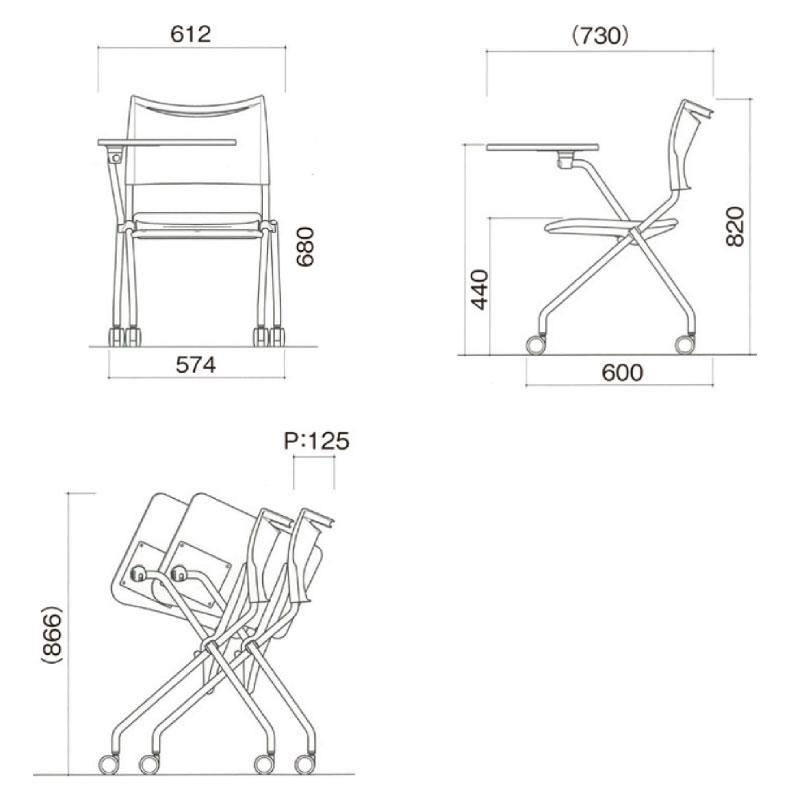 ミーティングチェア スタッキングチェア 会議用椅子 | I-LTS-4NP-MD-V