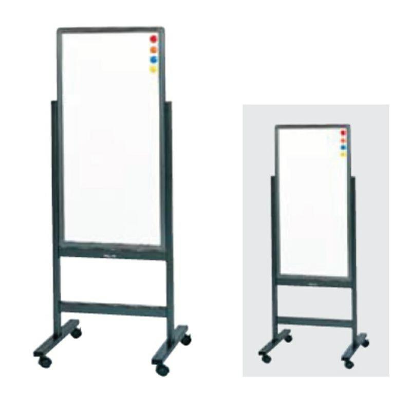 案内板 掲示板 両面 白板 白板 W530 D510 H1400 キャスター脚 マグネット マーカー イレイザー付き | I-GA-315WW
