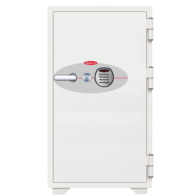 ディプロマット 鍵+デジタルテンキー式金庫 120分耐火 容量200L ホワイト 警報音付 | I-N130EKR3