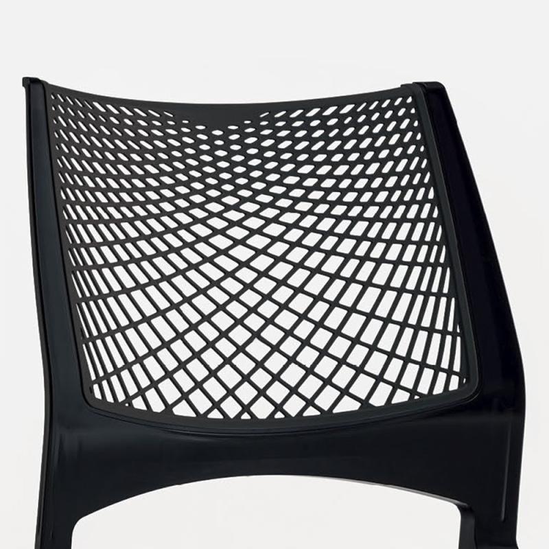 ミーティングチェア スタッキングチェア 会議用椅子 ループ脚 スチール ホワイト 塗装脚 メッシュ | I-VSTR-W