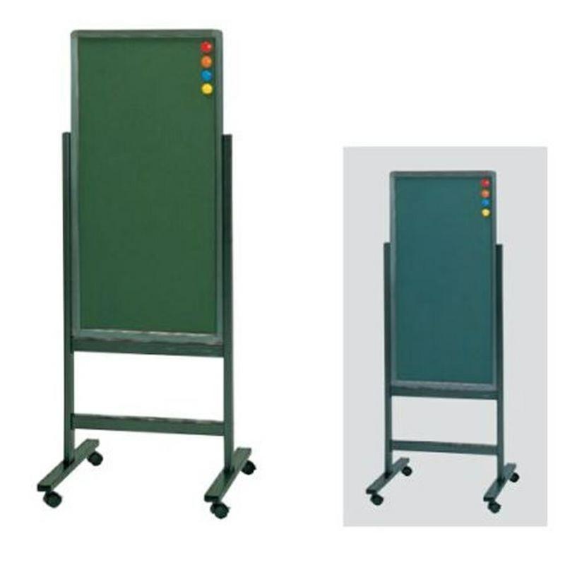 案内板 掲示板 両面 黒板 黒板 W530 D510 H1400 キャスター脚 マグネット マーカー イレイザー付き | I-GA-315GG