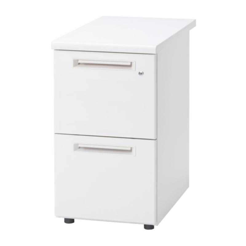 【予約商品】オフィスデスク 事務机 脇机 2段 鍵付き W400 D700 H700 | I-SSD-047-2L