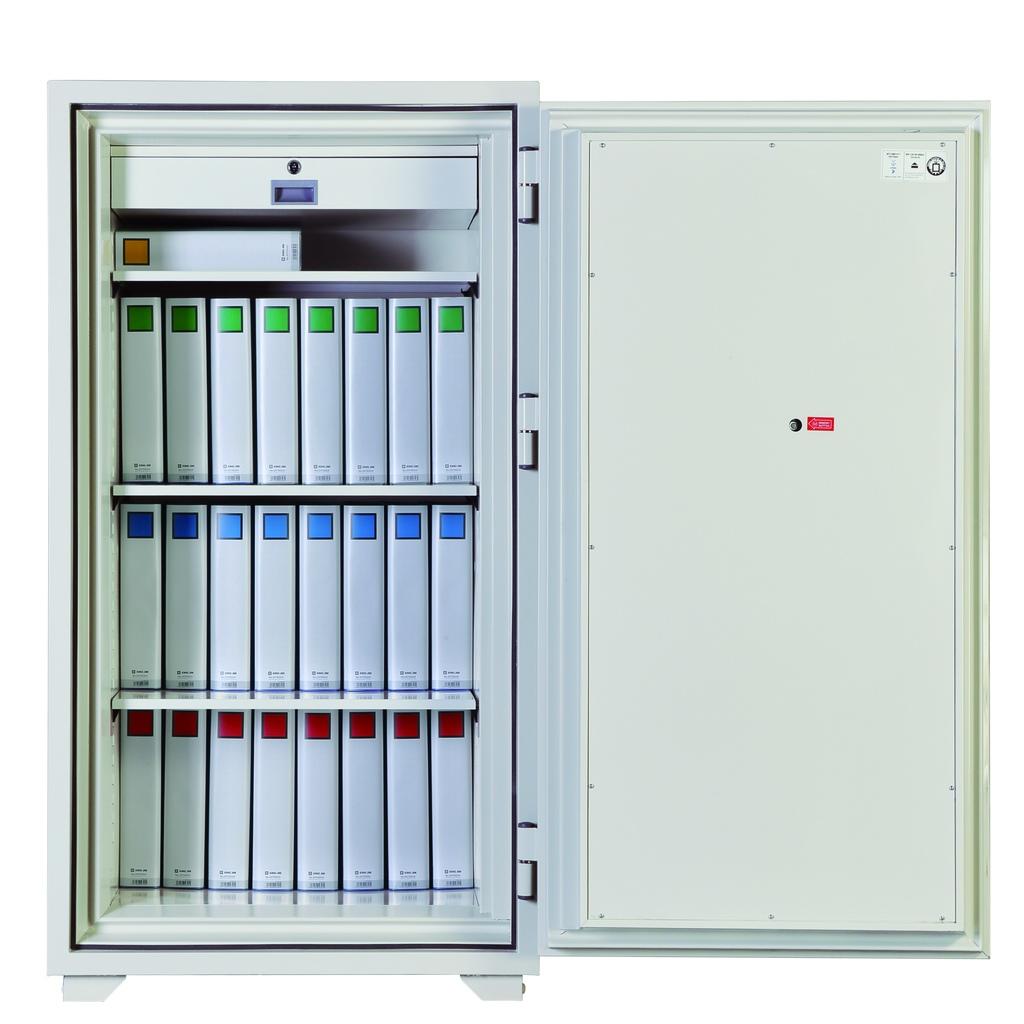 ディプロマット 鍵+デジタルテンキー式金庫 120分耐火 容量315L ホワイト 警報音付   I-130EKR3