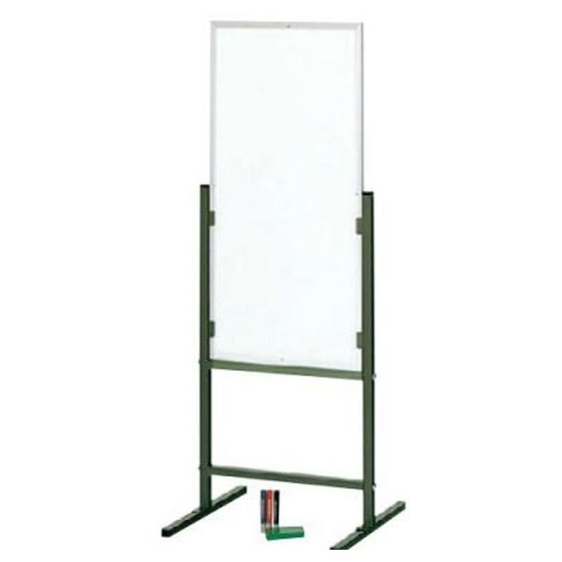 案内板 掲示板 両面 白板 白板 W500 D420 H1335 固定脚 マグネット マーカー イレイザー付き | I-GA-315W