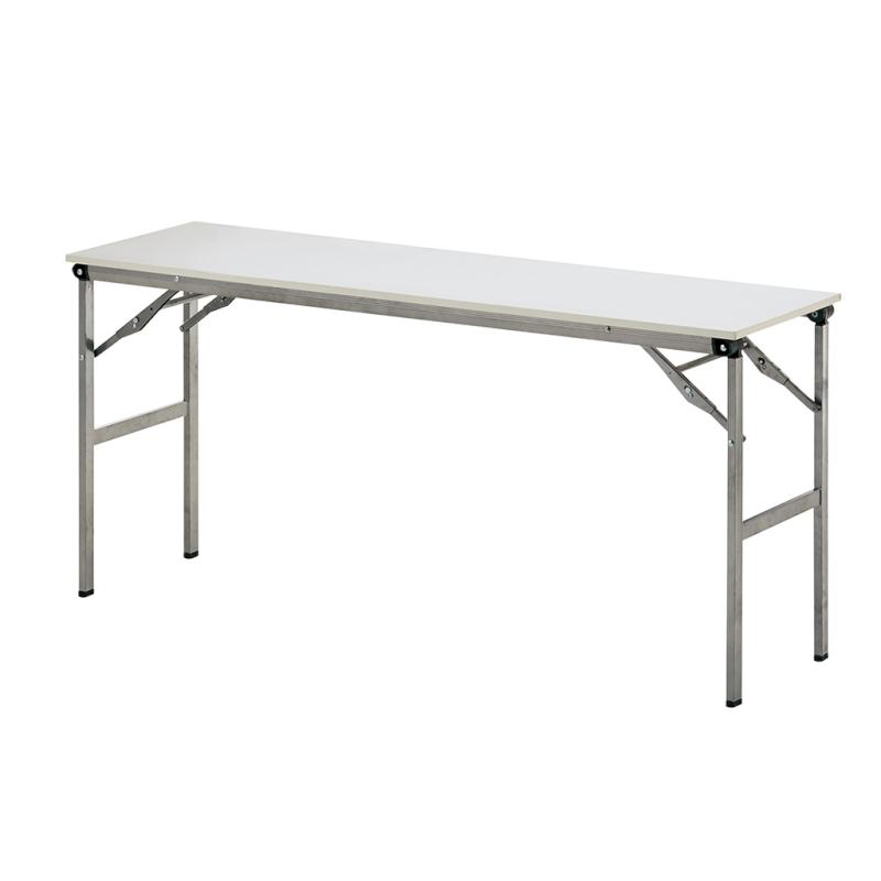 会議用テーブル 折りたたみ 超軽量 W1500 D450 H700 棚なし   I-LOT-1545E