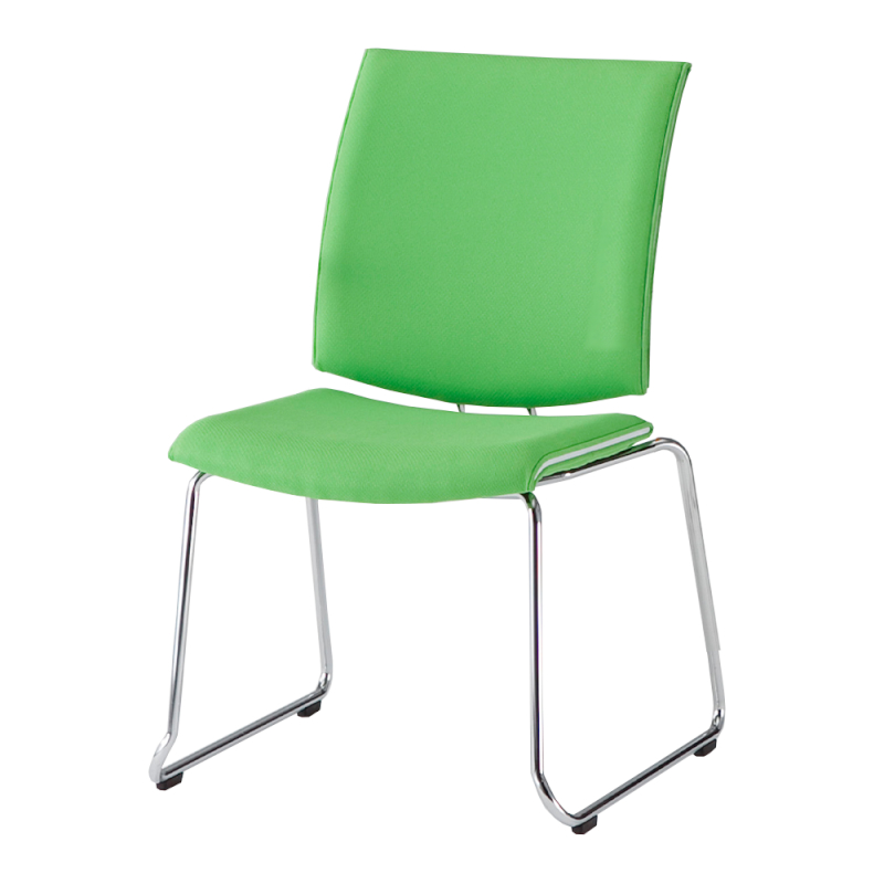 ミーティングチェア 応接用椅子 ループ脚 スチール メッキ脚 布   I-TRF10R-F