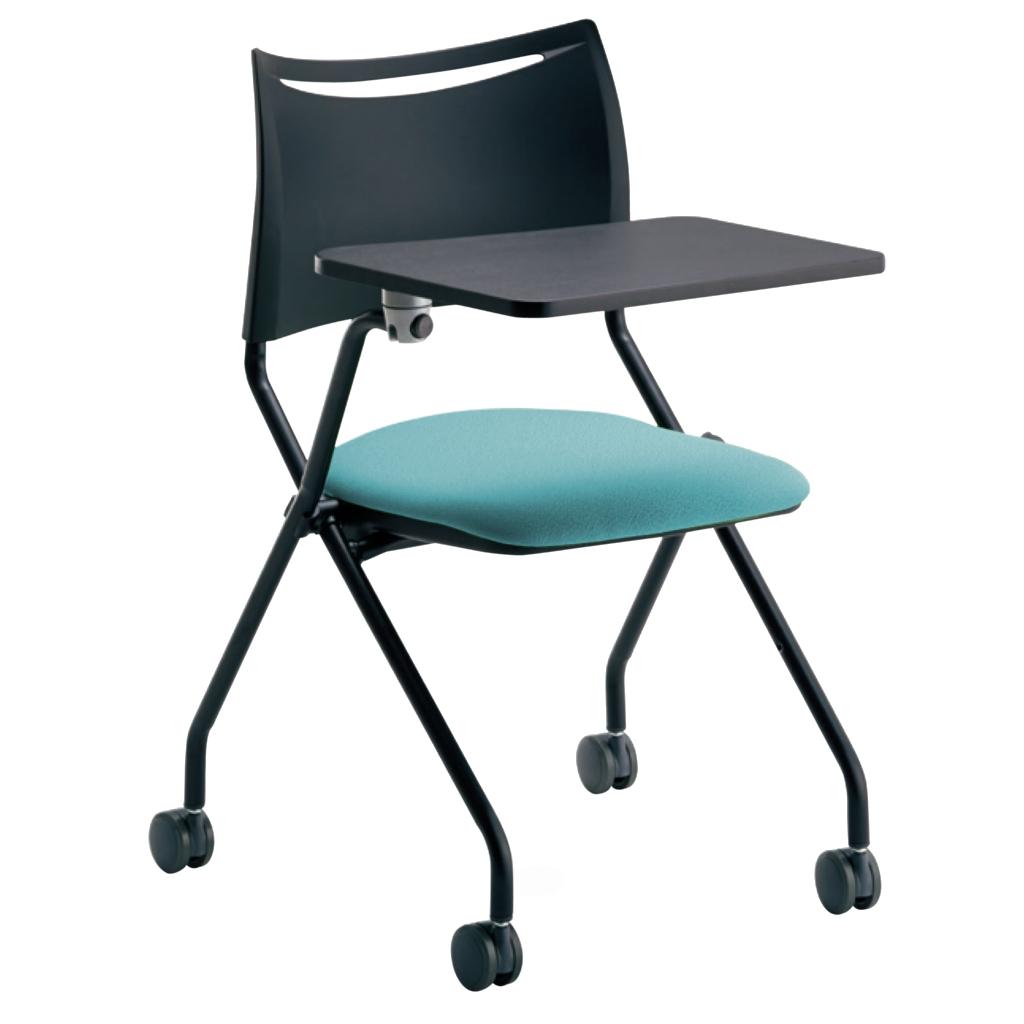 ミーティングチェア スタッキングチェア 会議用椅子 ブラック | I-LTS-4N-B-MD-F