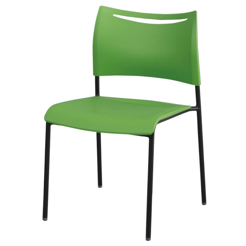 ミーティングチェア スタッキングチェア 会議用椅子 ブラック   I-LTS-4Z-B